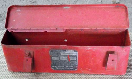 David Brown Tractor Tool Box with Patent Badge.